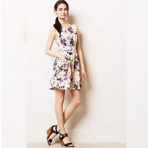 Anthro Maeve Pebble Print Fit and Flare Dress